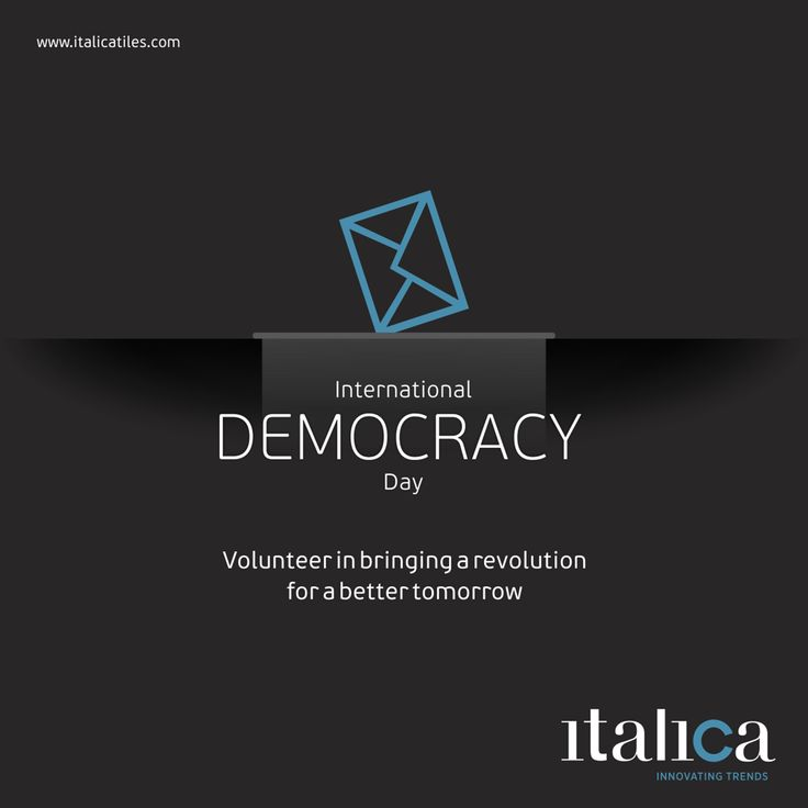 Volunteer in bringing a revolution for a better tomorrow. International Day of Democracy! #italica #tiles #ItalicaTiles #FloorTiles #Ceramic #international #democracy #day