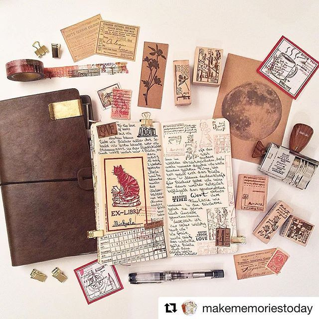 #Repost @makememoriestoday with @repostapp ・・・ #اجندة  # بلانر #coffee #journaling #notebook #travelersnotebook #midori #artjournal #planner #filofax #write #scrapbooking #ink #lettering #stamps #stamping #washi #washitape #stationery #ephemera #vintage #calligraphy #thedailywriting #watercolor #postcrossing #snailmail #penpals #storytelling #exlibris
