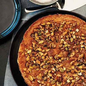 The original recipe for Ryan Hardys delicious citrusy, nutty, and dense cake comes from Londons River Cafe restaurant. He substitutes olive oil for some of the butter and insists that it be served with tangy creme fraiche and an espresso.