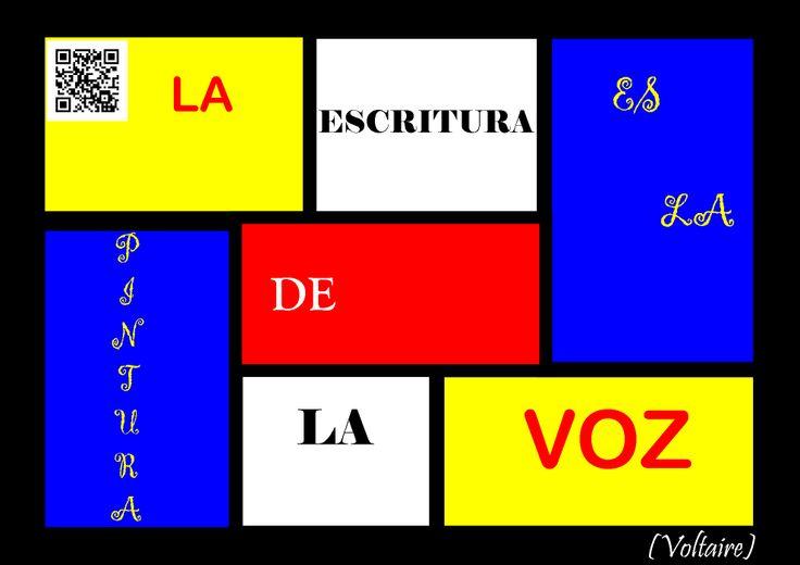 Votaire sobre la escritura (y sobre un Mondrian)