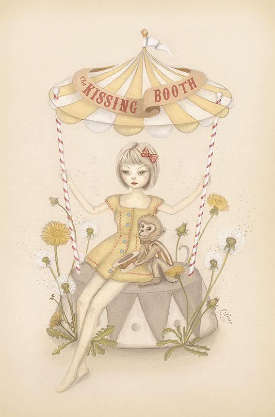"""The Kissing Booth.' Lang Leav: Poetry Book, Langleav, Artworks, Art Inspiration, Kissing Booth, Lang Leave, Artists Inspiration, Crazy Art, Kiss Booths"