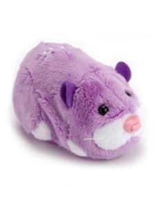 """Zhu Zhu Pets Exclusive Hamster Toy Justice by Cepia LLC. $28.99. Welcome """"Justice"""", A Brand New Release Exclusive Purple Zhu Zhu Pet Hamster. Each Zhu Zhu Hamster has its own unique personality & whimsical sounds. Loving Mode: Pet them, love them, hear them chatter Explore Mode: Let them scoot, scamper, across the floor. Includes One (1) Justice Purple Zhu Zhu Pet, Factory Sealed."""