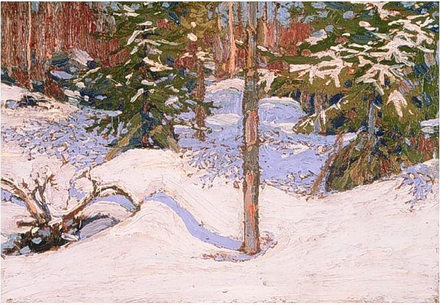 Tom Thomson Catalogue Raisonné | Snow in the woods, Spring 1915 (1915.06) | Catalogue entry