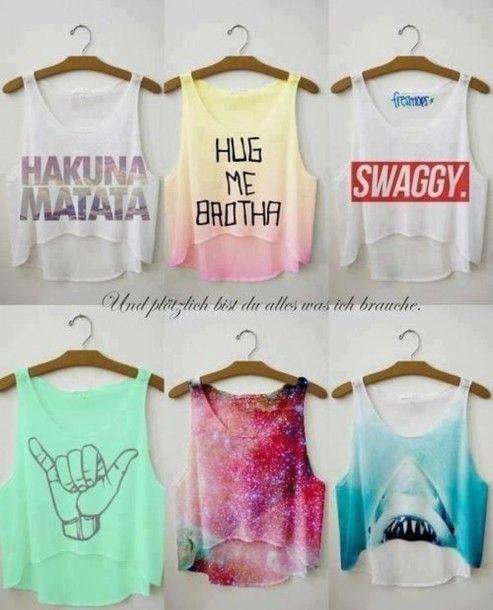 T-shirt: tank top, shirt, summer, summer shirt, crop tops, funny sweaters, hipster, cool shirts, the t-shirt - Wheretoget