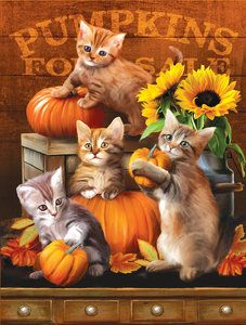 Autumn Kitties (300 Large Pieces by SunsOut)