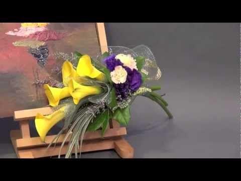 BB-1 結婚花球系列 Bridal Bouquet #1-Calla-Lily - YouTube