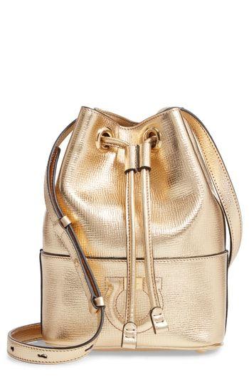 bc2f755f4d2 Salvatore Ferragamo City Quilted Gancio Bucket Bag   On-Trend ...