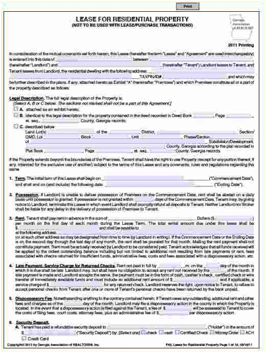 Free Land Lease Agreement Forms To Print Inspirational 33