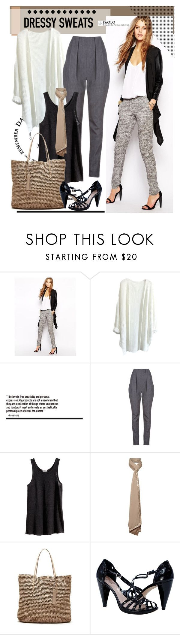 """""""Fashionable Sweatpants"""" by spenderellastyle ❤ liked on Polyvore featuring SuperTrash, TheP., H&M, Untold, Banana Republic and stylishsweats"""