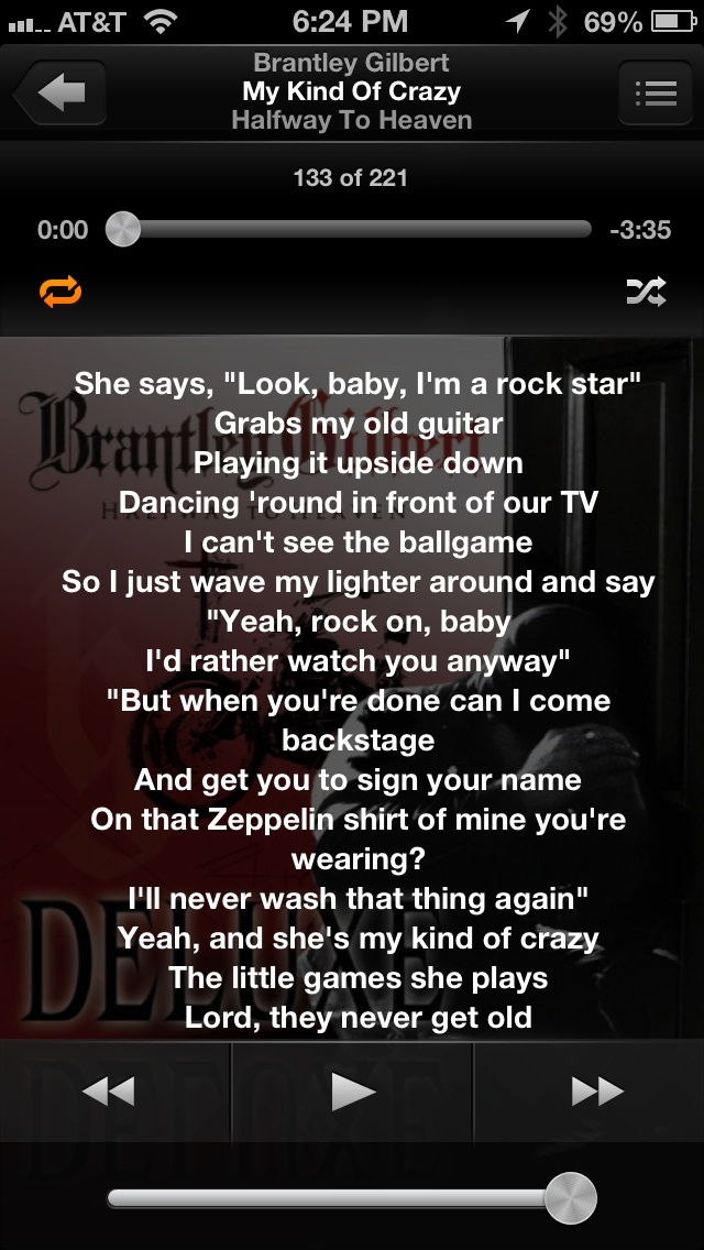 Brantley Gilbert My Kinda Crazy Lyrics Quotes