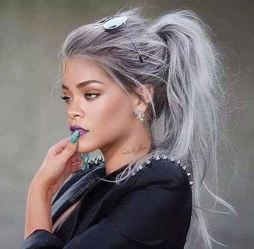 Rihanna's Gorgeous silver hair - Visit www.styleopath.com for a chance to win £200 worth of luxury afro hair products. ~Visit: http://styleopath.com