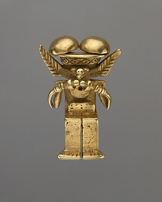 Animal-Headed Figure Pendant Date: 1st–7th century Geography: Colombia Culture: Calima (Yotoco) Medium: Gold
