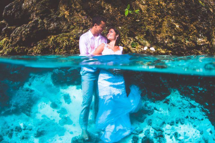 underwater wedding. Fotografia subaquática em Punta cana. Underwater punta cana
