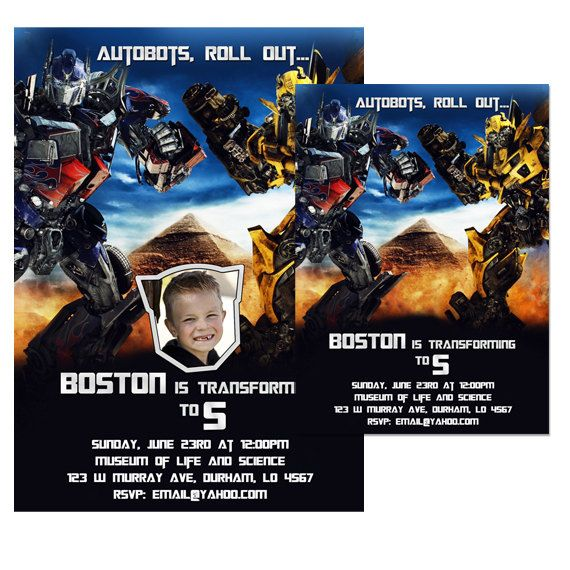 159 best party on jake images on pinterest birthday invitations digital transformers bumblebee optimus prime printable birthday party invitation filmwisefo