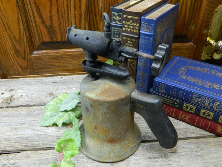 Antique Metal Blow Torch Welding Tool Craftman's Label by allthatsvintage56 on Etsy
