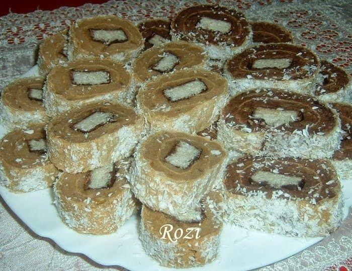 Rozi Erdélyi konyhája: Kókuszcsokis keksztekercs