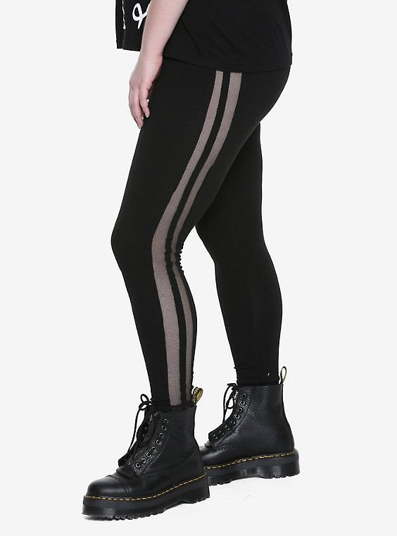 6b49a7ecea5e2 Blackheart Fishnet Side Stripe Leggings Plus Size   Wishlist ...