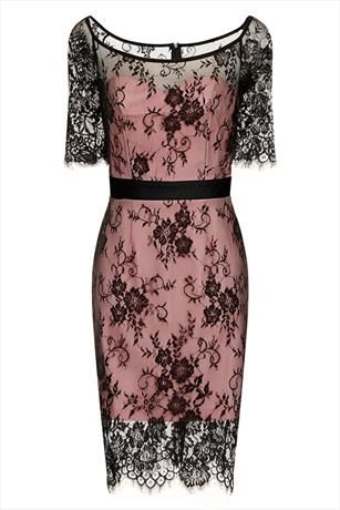 Just had to pin this Paper Dolls Black and Pink Lace Overlay Dress from www.vestryonline.com/