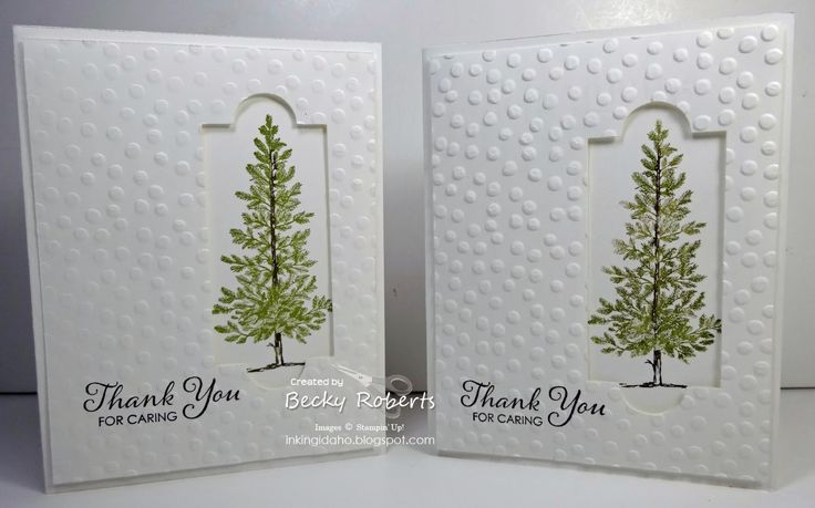 Lovely as a Tree Thank You cards by Becky Roberts
