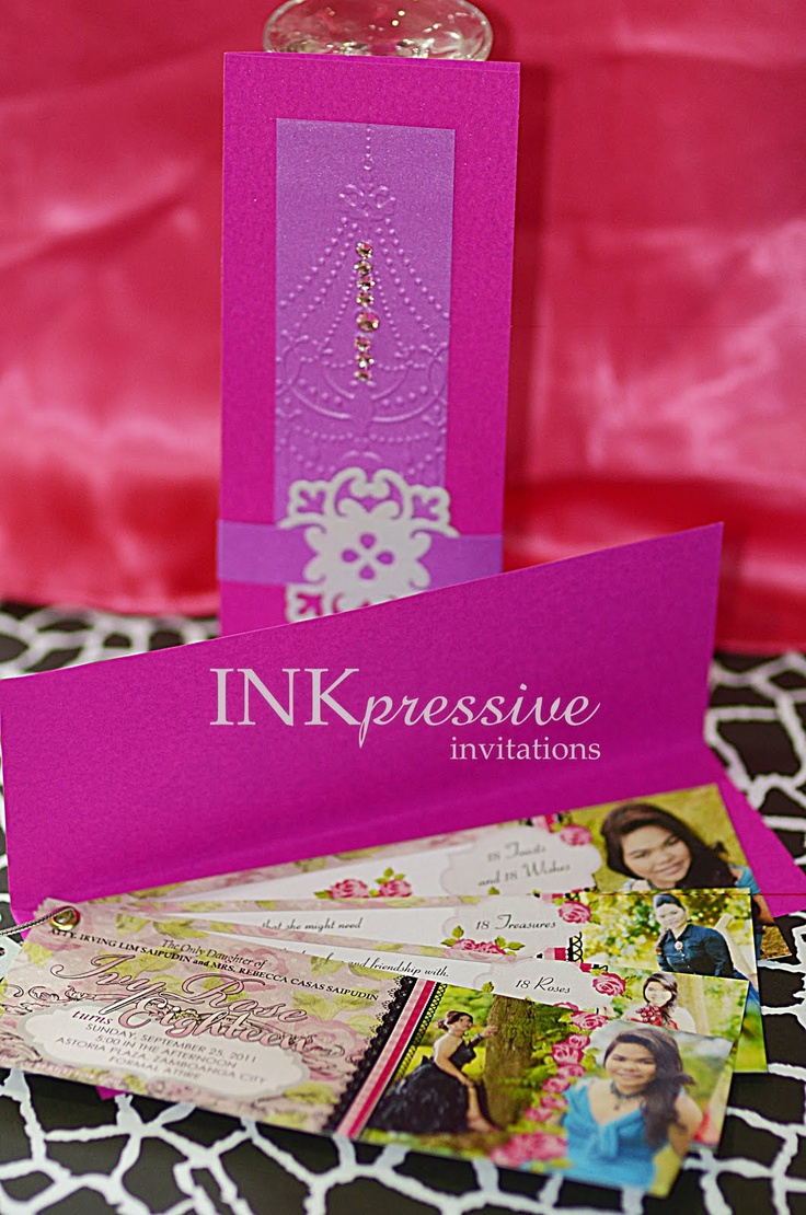 Inkpressive Invitations 18th Birthday Invitation For Ivy