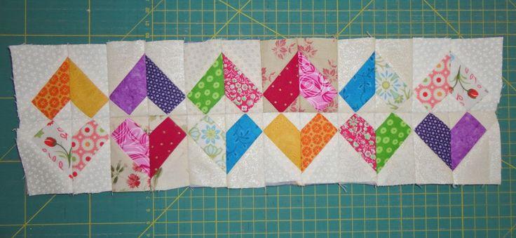 DIY patchwork randje door Miranda. www.loveallcrafts.nl