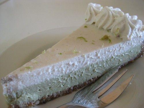 #raw Key Lime pie from It's Rawsome Cafe