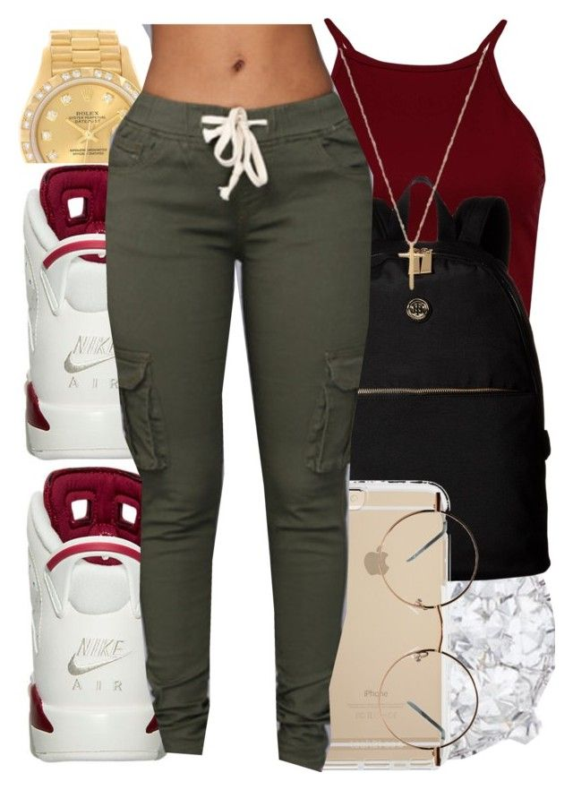 """""""N.A"""" by dashaye-2013 ❤ liked on Polyvore featuring Rolex, Tommy Hilfiger and Gucci"""