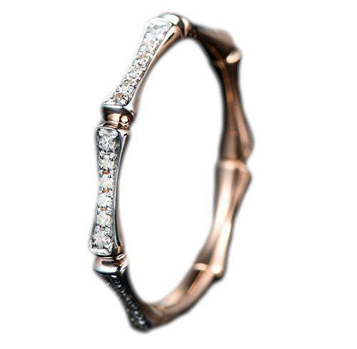 Diamond Wedding Band Anniversary Ring in 14K Rose Gold,Pave Unique Bamboo Design, http://www.amazon.com/dp/B00WSD5R7I/ref=cm_sw_r_pi_awdm_7ssYvb0XDCY1Z