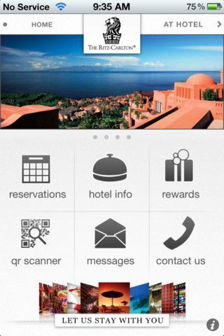 How the Ritz Carlton is using QR Codes: Mobile App with built-in QR Code scanner