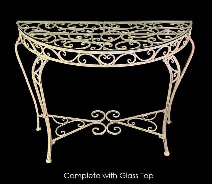 E109268         - CONSOLE TABLE W GLASS