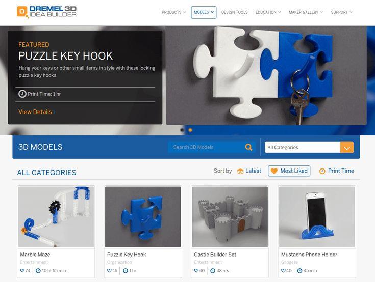 Image of Free STL Files / 3D Printer Models / 3D Printer Files - The Best Sites: Dremel Idea Builder