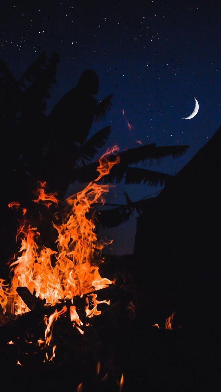 FIRE AND MOON HD WALLPAPER   Iphone wallpaper sky, Sunset ...