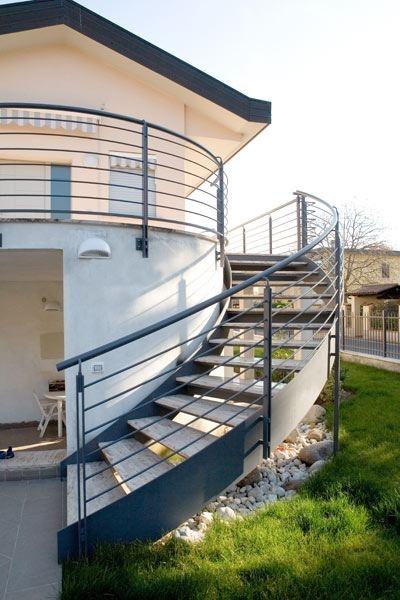 Scala a giorno scale in acciaio o ferro per interni e esterni quartieri scala a giorno - Scale in ferro per esterno ...