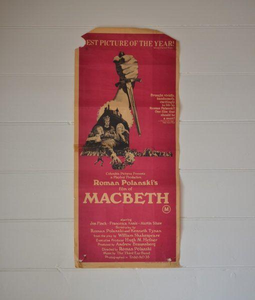 Vintage Daybill Movie Poster MacBeth Roman Polanski