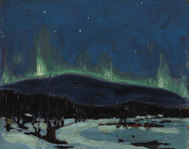 Tom Thomson (Canadian, 1877 – 1917),Northern Lights, c.1916-1917.  art  canada