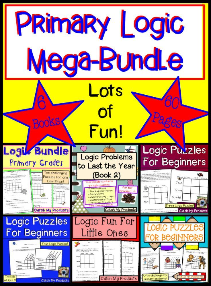 Brain Teasers Logic Puzzles  Primary Mega-Bundle Gifted and