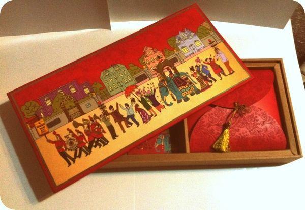 Indian wedding card by Mallika Puri, via Behance