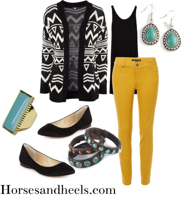 Polyvore: How to Wear Mustard Jeans
