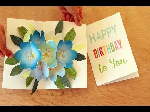 Pop up Bouquet Easy DIY Birthday Card and Mother's Day Card with Printab...