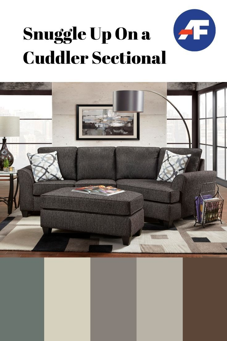 Snuggle Up On A Cuddler Sectional American Freight Blog Cuddler Sectional Sectional Grey Sectional