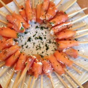 Salmon Breadsticks    Recipe at http://www.tabletoptrends.com/style-board/#