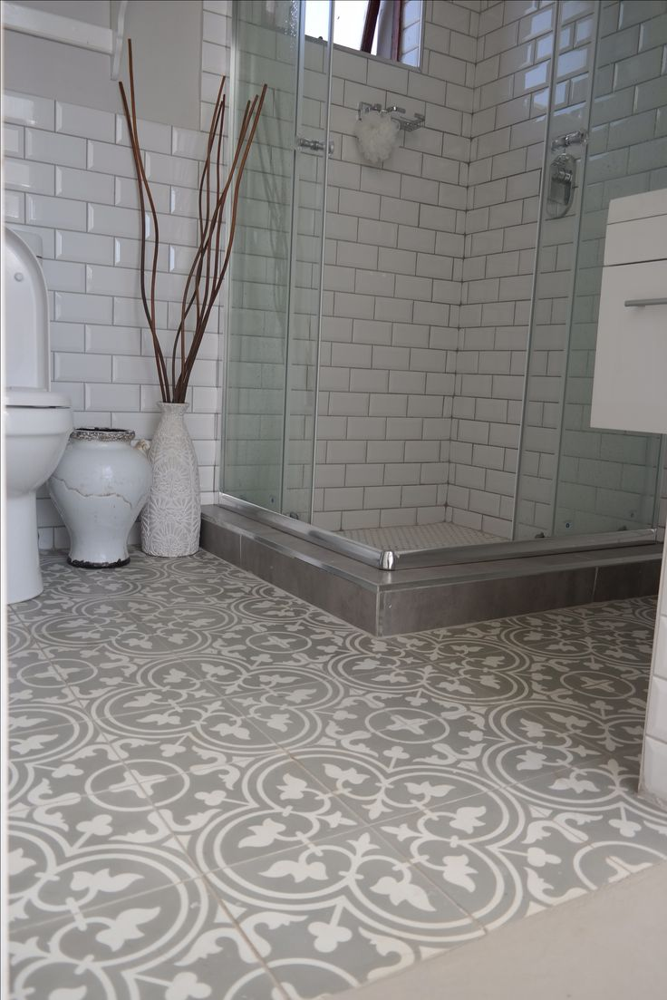 Bathroom floor towels - Beautiful Bathroom Using Hadeda Encaustic Cement Tiles Www Hadeda Tiles Com