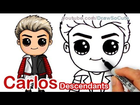How To Draw Carlos From Disney Descendants Cute Step By