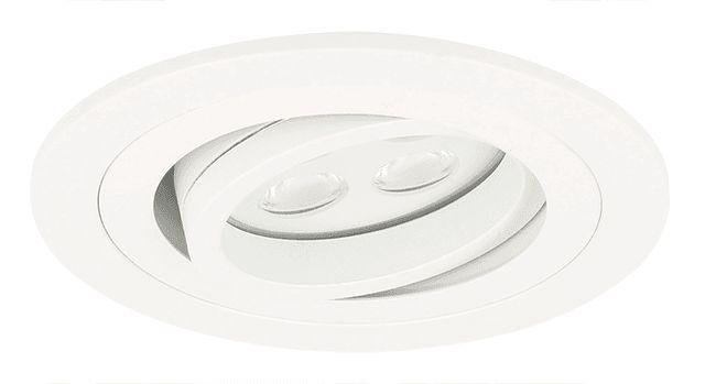 29,95 dimbare (zie omschrijving)  LED Inbouwspot Montella wit 5 Watt (Vervangt 50W), RAL 9003