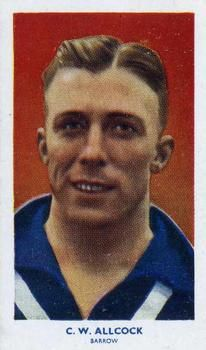 1939 R & J Hill Famous Footballers Series 2 #71 Bill Allcock Front