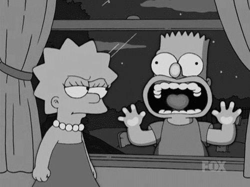Fondos animados de los Simpsons.