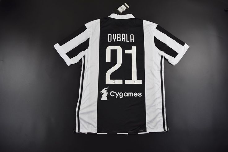 Adult Juventus FC Home #21 DYBALA Fans Version Soccer Jersey 2017/18,Rubber Patch