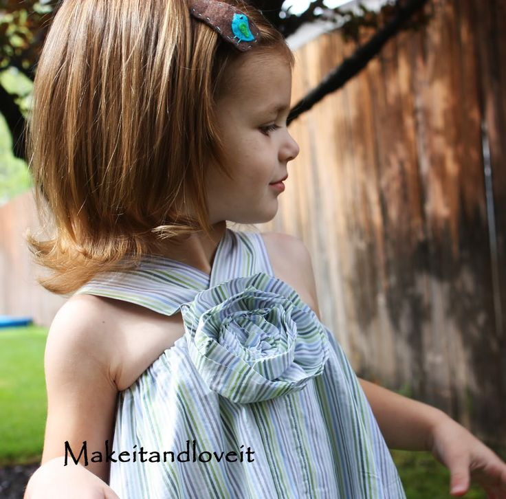 dress made from daddy's shirt