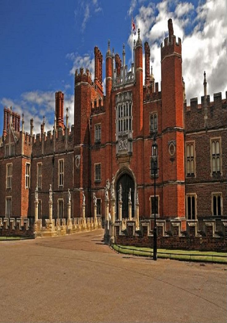 Main Entrance Of Hampton Court Palace in London
