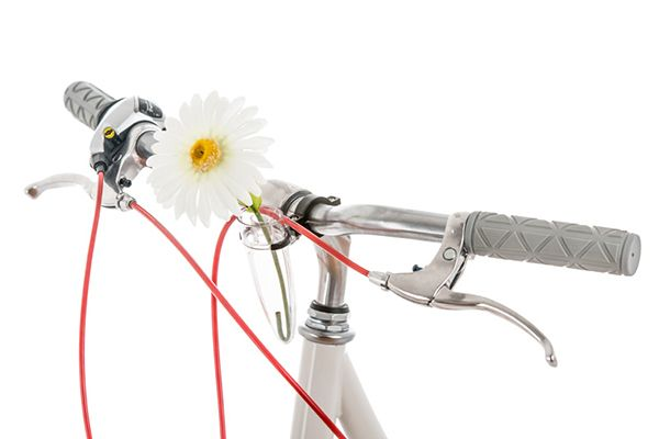 11 Chic Accessories Every Biker Babe Needs #refinery29  http://www.refinery29.com/bike-accessories#slide10  Public Bikes Handlebar Flower Vase, $12, available at Public Bikes.
